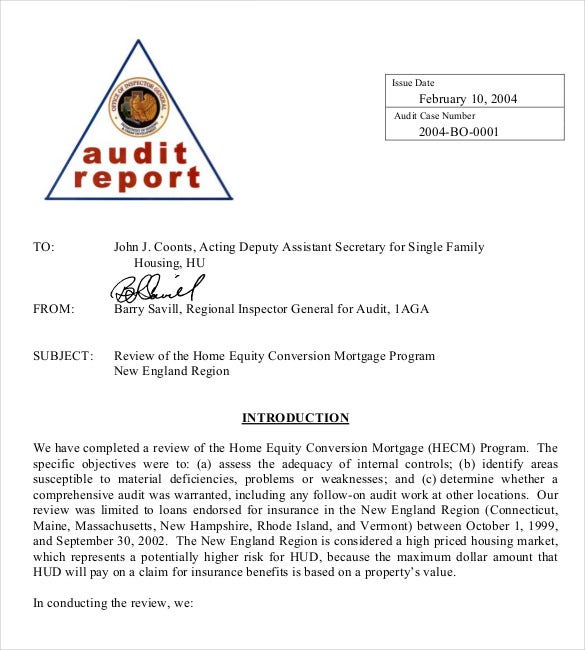 report for audit memo template pdf