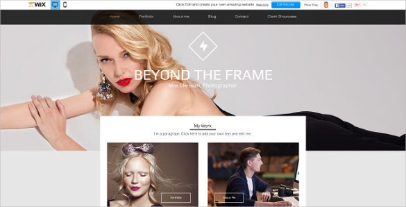 fashion photo studio website theme