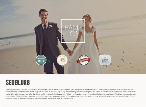 wedding photography website theme