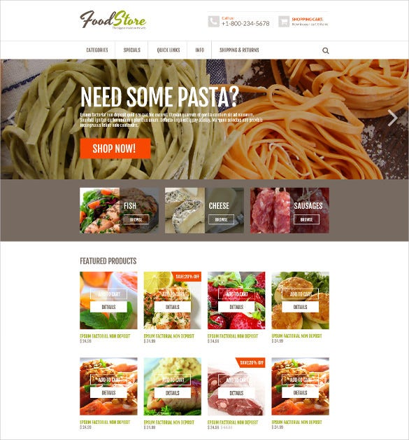 online grocery zencart mobile theme 139