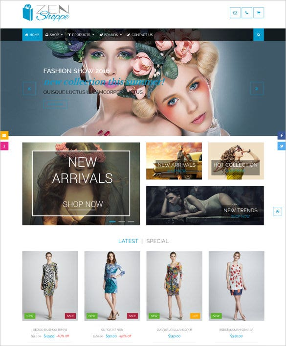 responsive shopping mobile zencart template 48