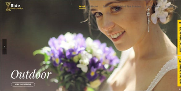 responsive photography website theme