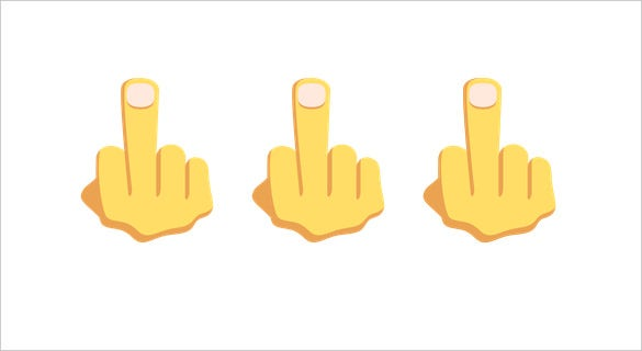 hand with middle finger extended on emoji one download
