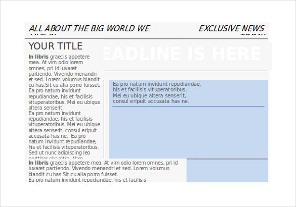 creative newspaper template in word free download