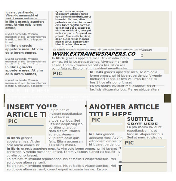 fully editable newspaper free word format download