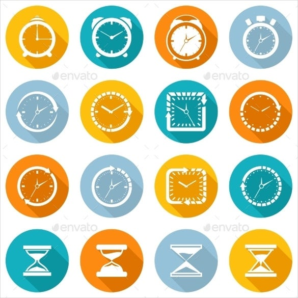 simple clock icon design download