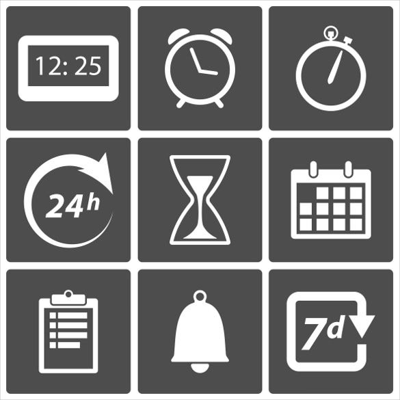 clock time icons download
