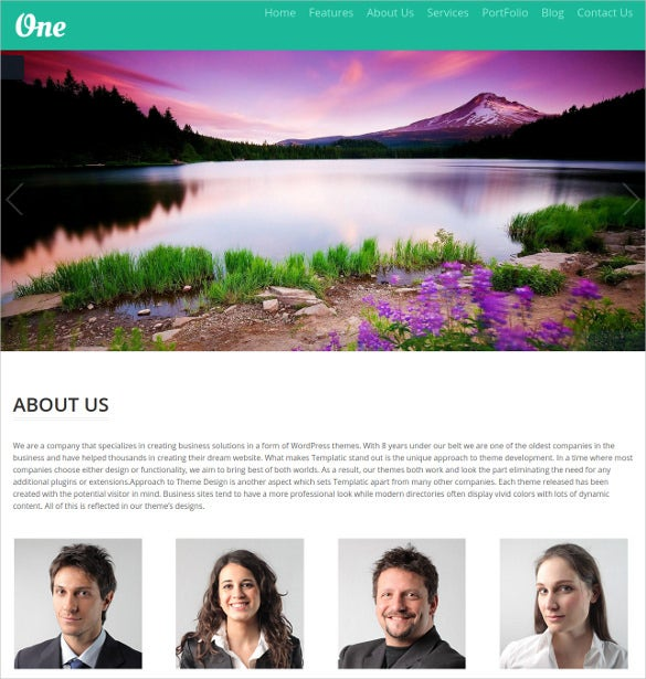 graphic photograph website theme