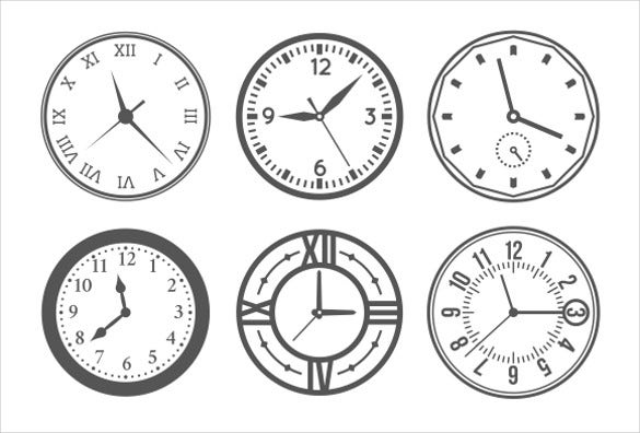 simple wall clock icons download