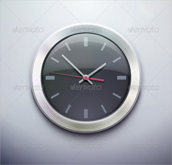 vector illustration clock icon download
