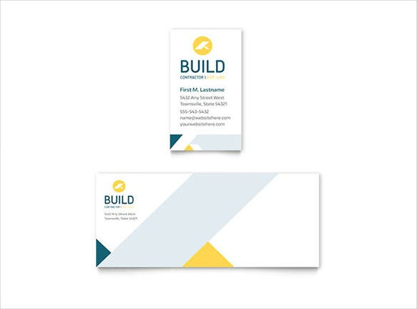22 free business card templates in word format free premium contractor business card word file download reheart Gallery