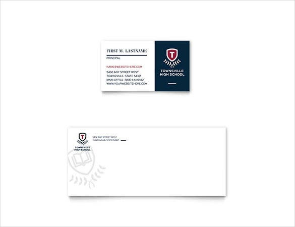 high school business card