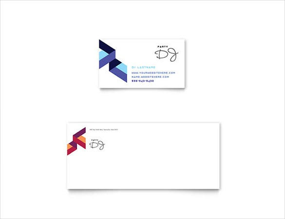 22 free business card templates in word format free premium dj business card flashek Image collections
