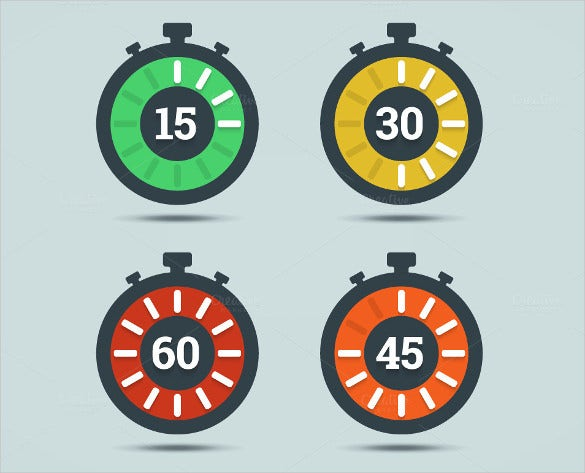 colourful timer clock icons download