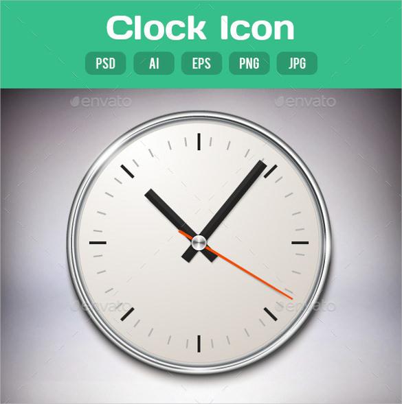 unique clock icon design download