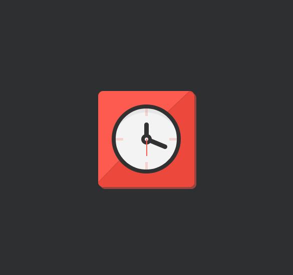 flat clock icons visual design download