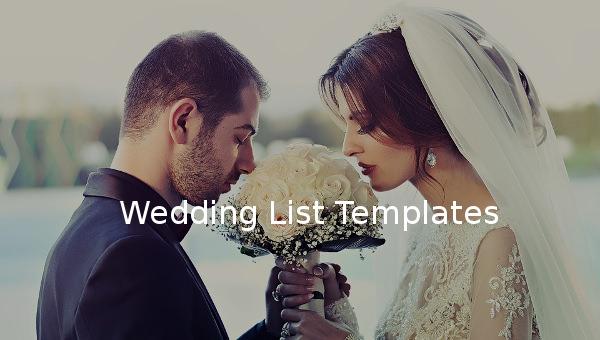 weddinglisttemplates