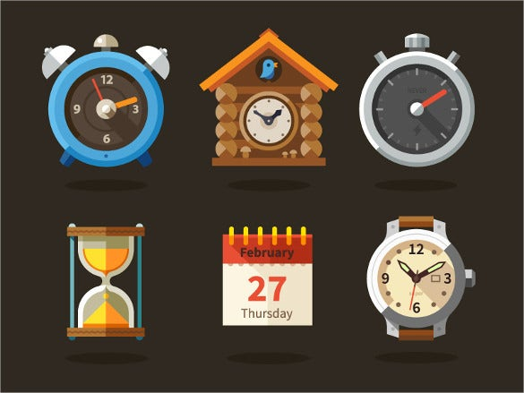 trendy clock icon design download