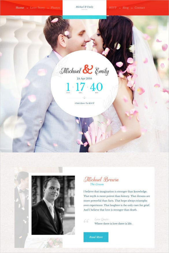 elegant wedding website themes