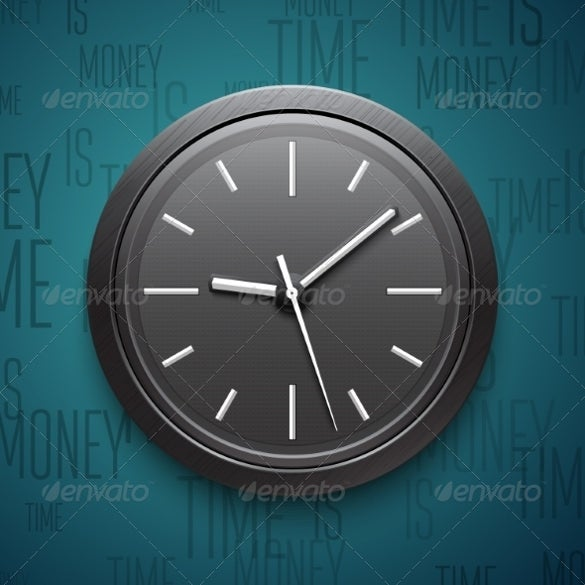 ready to print clock icon download
