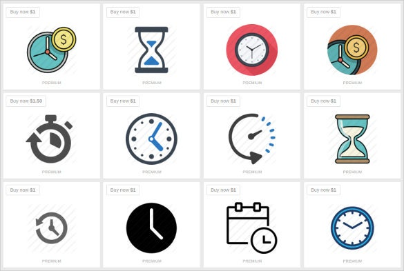 time clock icon download