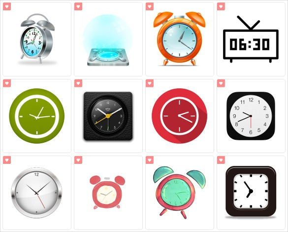 simple clock icon download