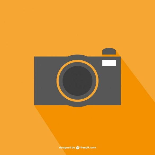 flat vector photography logo