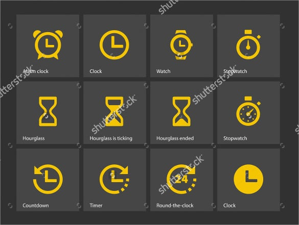 time and clock icon vectore download