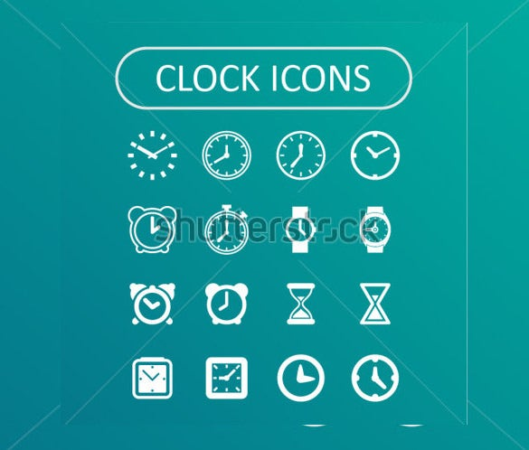 clock icons for website download