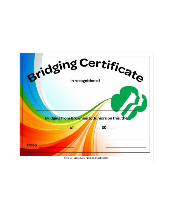 Girl scout certificate template 5 free pdf documents download girl scout bridging certificate template yelopaper Choice Image