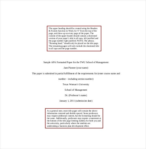 Customized term paper format doc