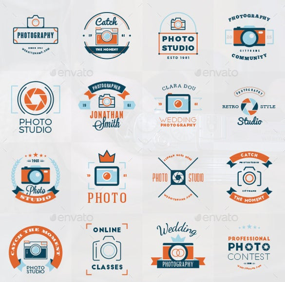 old photography logos download