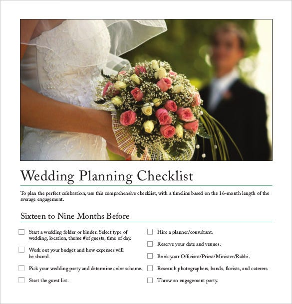 printable wedding plannertemplate free download