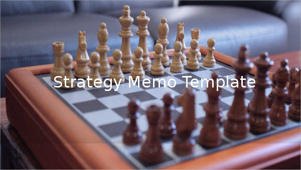 strategy memo template