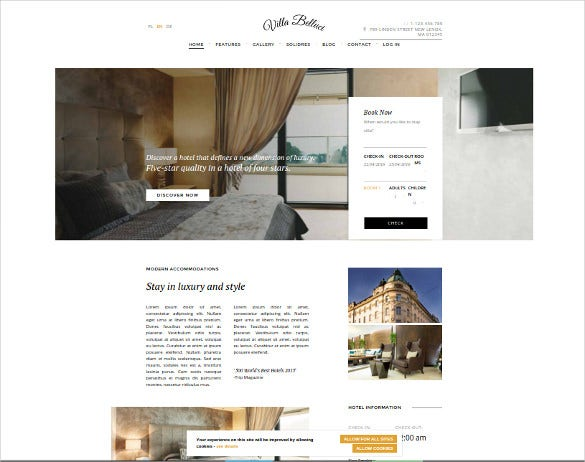 responsive joomla hotel website template