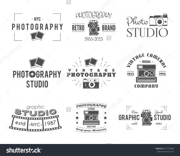 vintage camera photography logos download