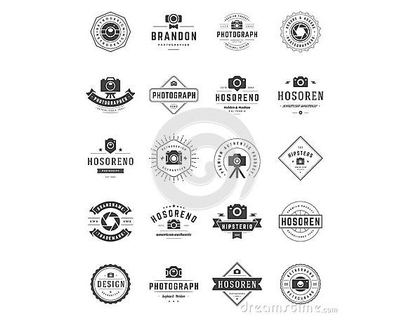 types of designed photography logos download