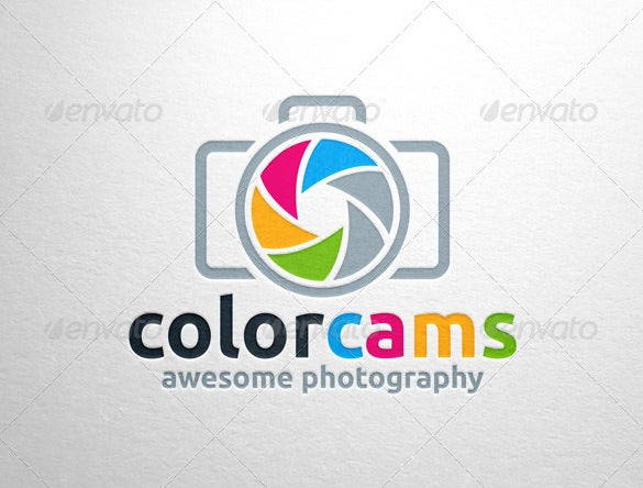 stylish colorful photography logo download