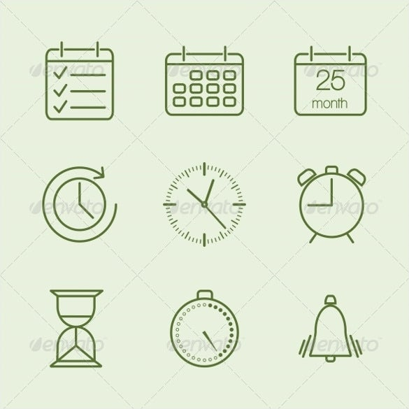 countered time calendar icons download