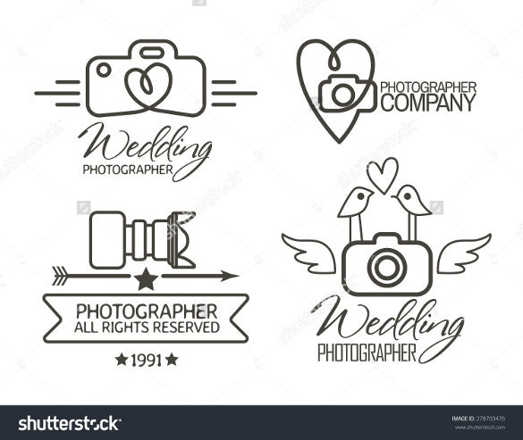 cute wedding photography logo download