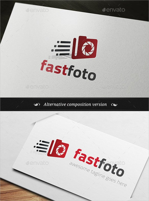 awesome photography logo for fast photographer