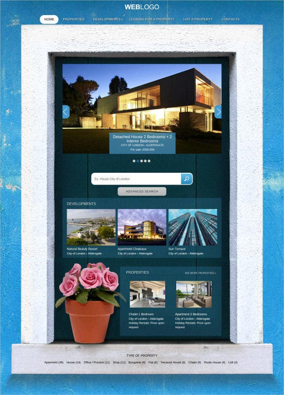 residency real estate wordpress theme