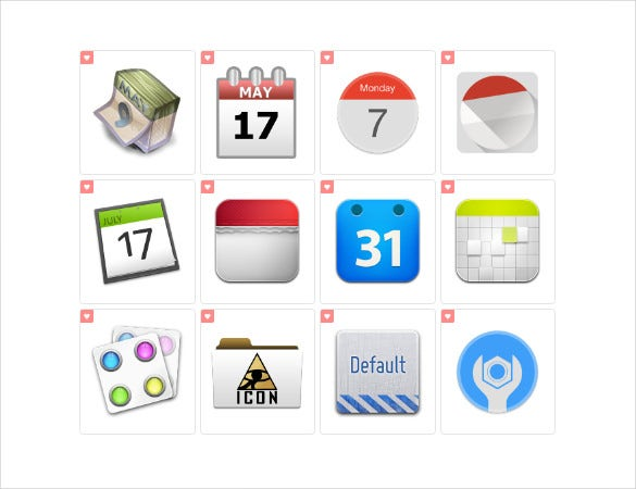 amazing office calendar icons