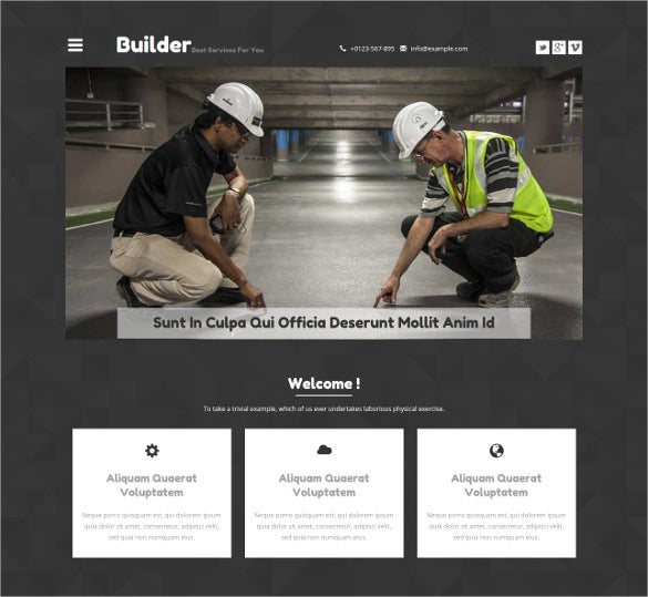 real estate builder website template