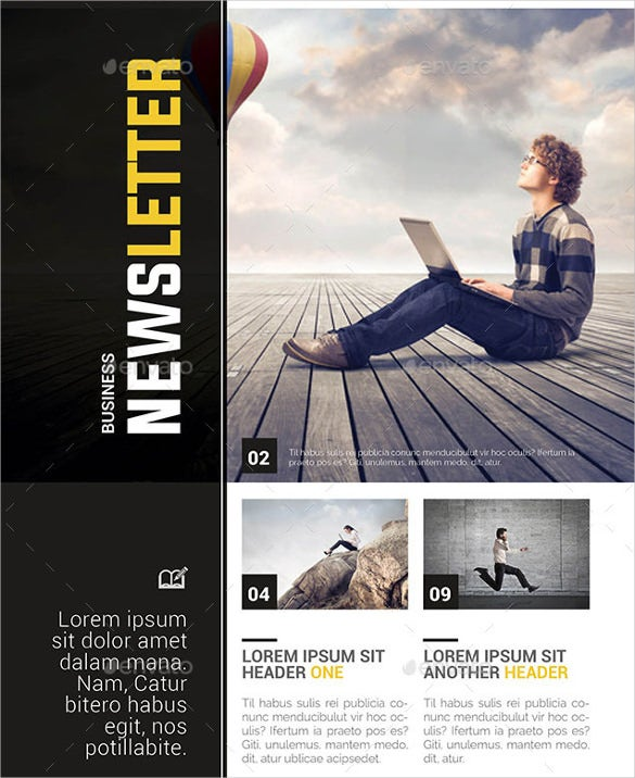 business newsletter word template
