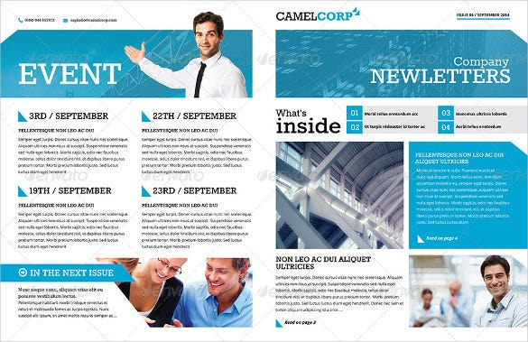 corporate newsletter word format template - Newsletter Templates