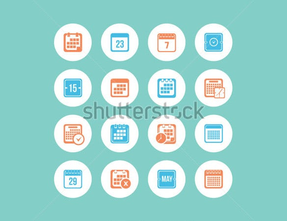 high resolution calendar icons download