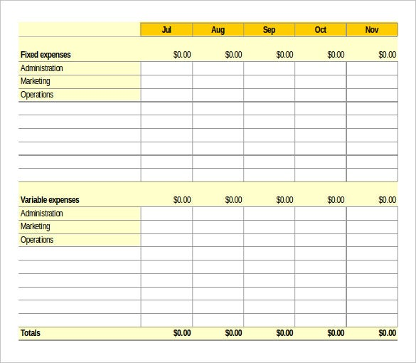 Cash Flow Order Tracker Excel Template