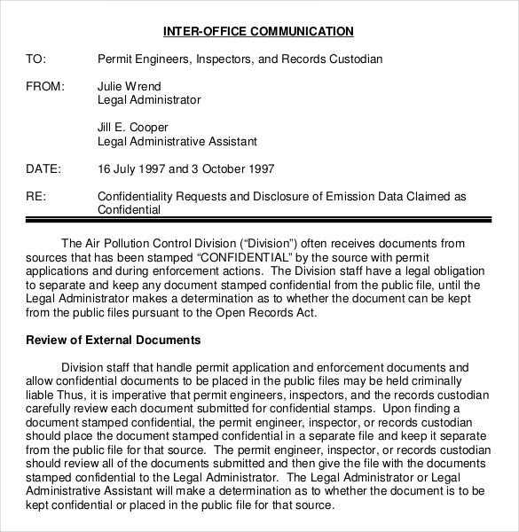 Confidential Memo Template   Free Word Pdf Documents Download