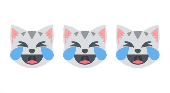 download laughing cat face with tears of joy on emoji one